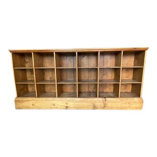 Antique French Country Pine Cubby For Sale