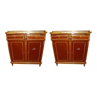 Maison Jansen Russian Neoclassical Style Cabinets - A Pair