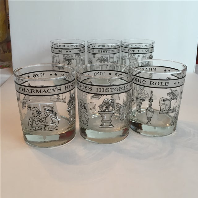 Pharmacy Cocktail Glasses - Set of 6 For Sale - Image 8 of 11