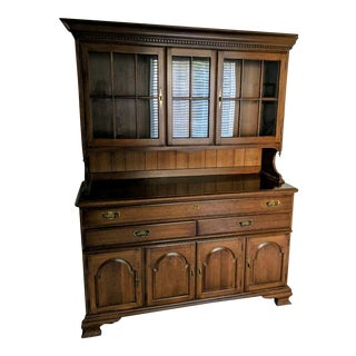 Pennsylvania Cherry Buffet and Display Hutch