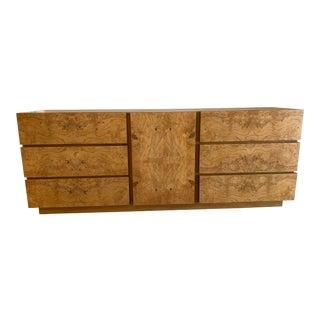 Roland Carter for Lane Furniture Burlwood Dresser For Sale