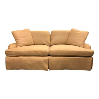 Century Furniture English Arm Sofa in Honey Silk For Sale
