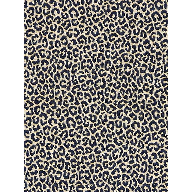 Transitional Scalamandre Panthera Velvet, Indigo Fabric For Sale - Image 3 of 3