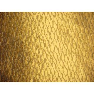 Groundworks Kelly Wearstler Midori Silk Weave Brass Upholstery Fabric- 5 Yards For Sale