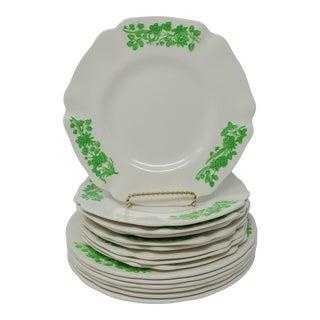 Vintage Spode Copeland England Shamrock Dishes 9 Salad Plates 6 Dinner Plates For Sale
