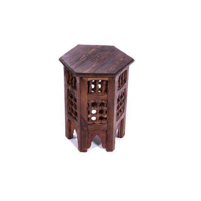 Zagora Moroccan Redwood Side Table Chairish - Redwood side table