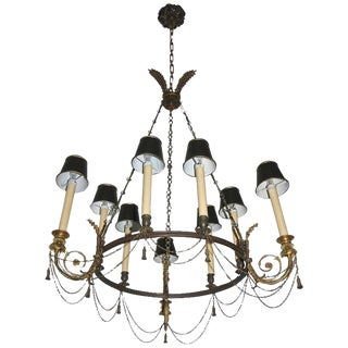 French 19th Century Louis XVI Bronze Chandelier For Sale