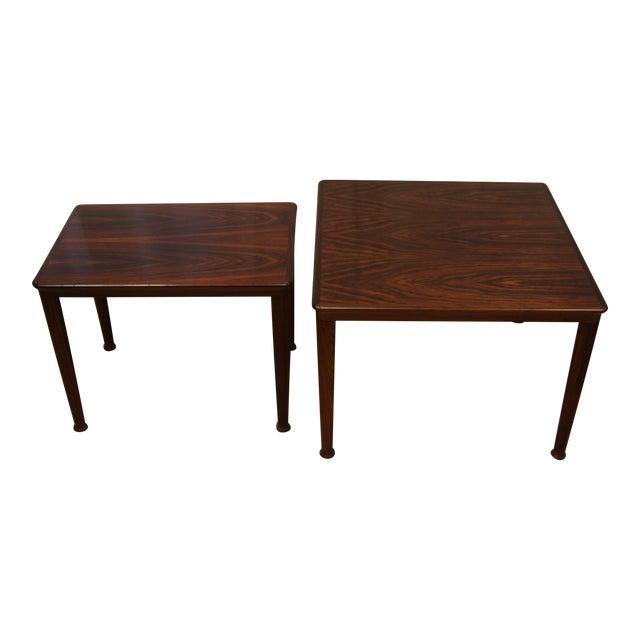 Henning Kjærnulf for Vejle Stole Rosewood Side Tables - A Pair For Sale
