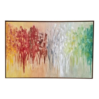 Abstract Oil Painting on Canvas For Sale