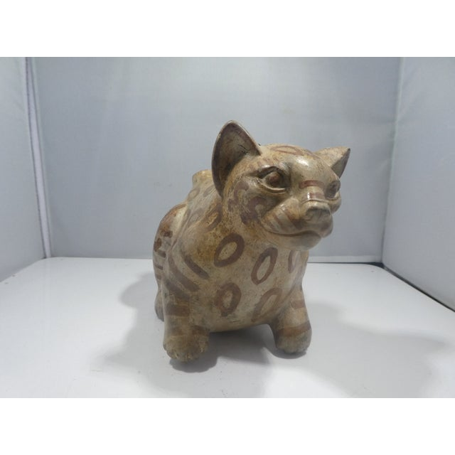 Authentic Pre Columbian Cat Vessel Fragment From Major Auction House For Sale - Image 9 of 9