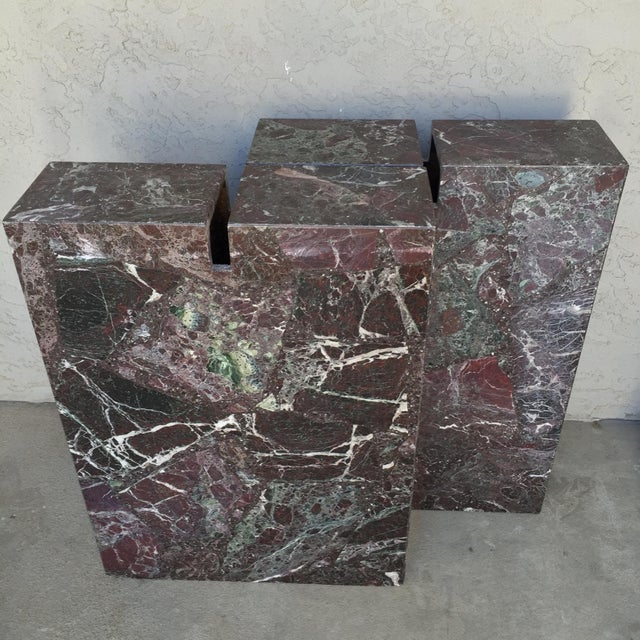 Italian Marble Dining Table Base - Image 4 of 11