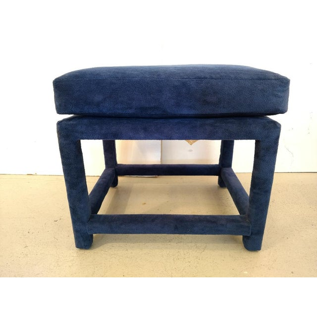 This is a great vintage fabric covered stool designed by Milo Baughman for Thayer Coggin. The entire stool is wrapped in...