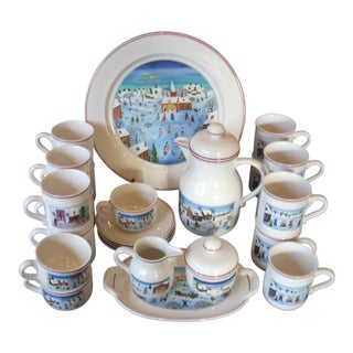Villeroy & Boch Christmas Coffee Set - 25 Pieces For Sale