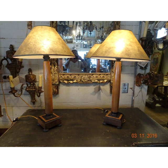 Pair of Biedermeir Style Lamps For Sale In New Orleans - Image 6 of 7