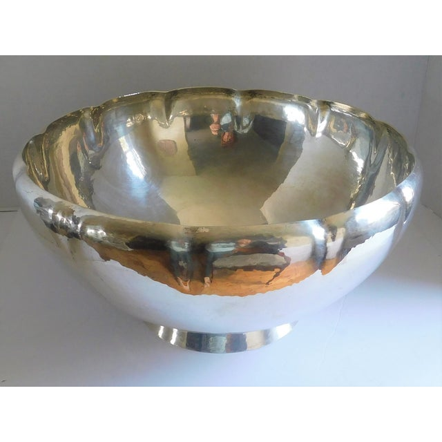 Metal Mid-Century Gorham Sterling Punch Bowl For Sale - Image 7 of 8