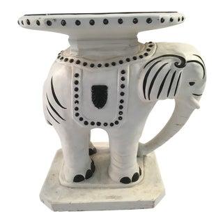 Vintage Ceramic Elephant Garden Stool