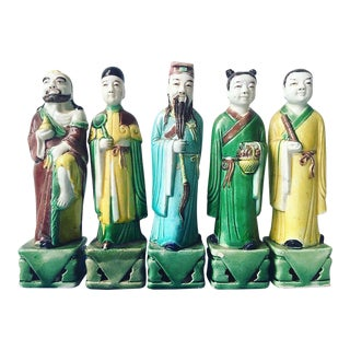 1960s Antique Chinese Figurines- Set of 5 For Sale