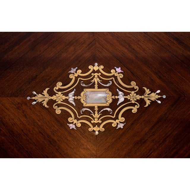 Louis Philippe Brass and Mother of Pearl Inlay Gentleman's Dressing Stand For Sale In Atlanta - Image 6 of 13