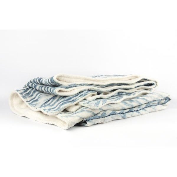 Blue African Mud Cloth Throw Blanket - Image 3 of 6