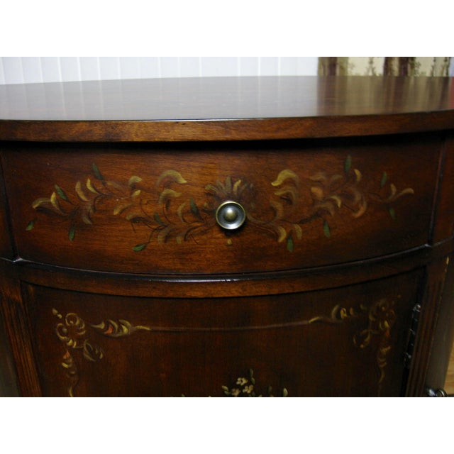 Ethan Allen Accent Table With Floral Design - Image 7 of 11