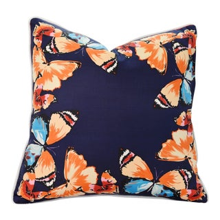Large Butterflies Silk Pillow For Sale