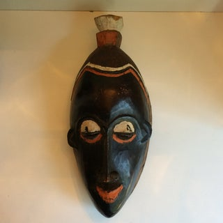 Pair of Vintage West African Hand Carved Wooden Ceremonial Masks Preview