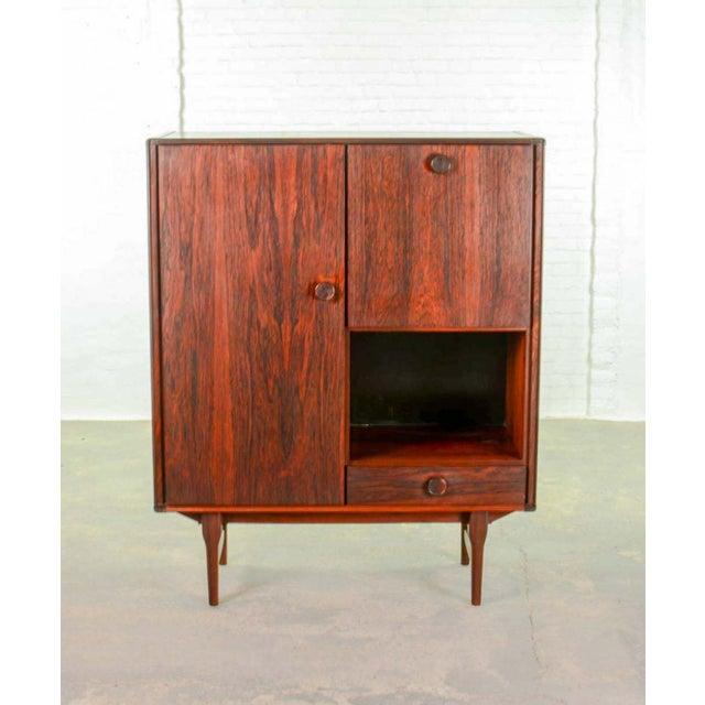 Fristho Elegant Mid-Century Dutch Design Rosewood Bar Cabinet for Fristho Franeker, 1960s For Sale - Image 4 of 13