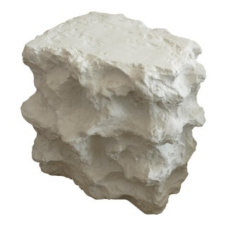 Plaster of Paris Modern Sirmos Style Sculptural Side Table For Sale