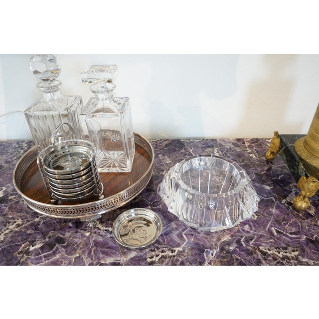 Mid-Century Swedish Modern Orrefors Crystal Faceted Bowl For Sale - Image 11 of 12