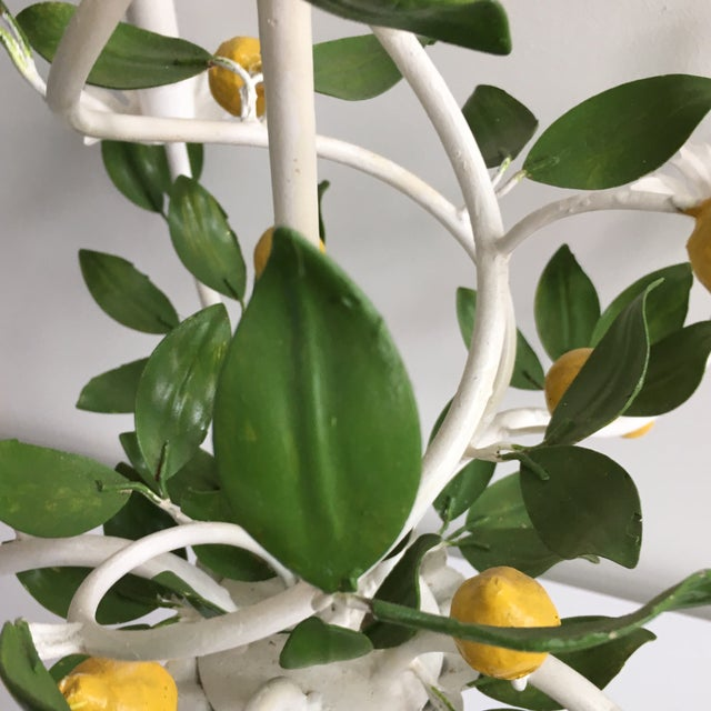 Italian Lemon Tree Tole Chandelier - Image 3 of 11