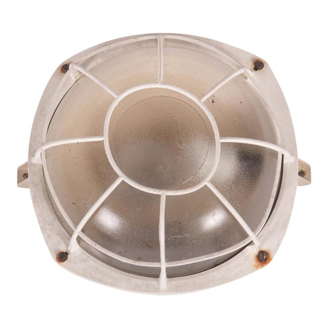 Industrial wall or ceiling lamp made of plastic, 1970s For Sale