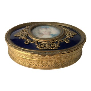 1930s Antique French Portrait Box For Sale