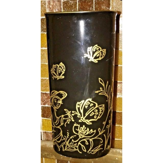 """Ceramic Edna Hibel Rosenthal """"Festival Annual"""" Golden Vase For Sale - Image 7 of 13"""