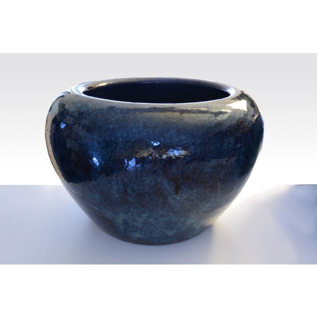 Ceramic Vintage Blue Hibachi - Image 2 of 3