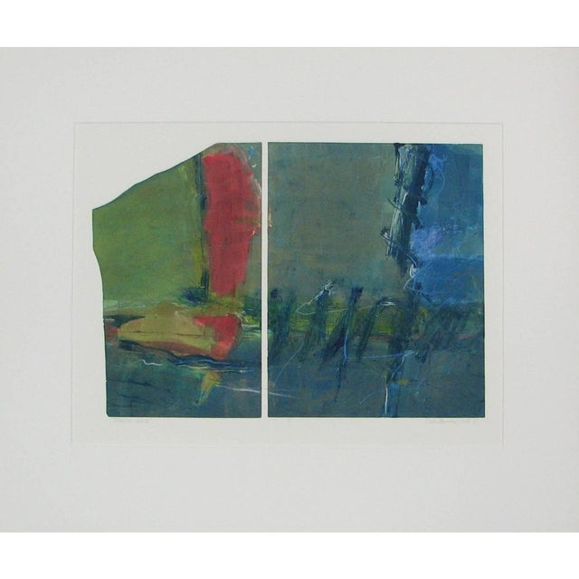 "Abstract Anne Raymond ""Mountain Lake I"" Print For Sale - Image 3 of 9"