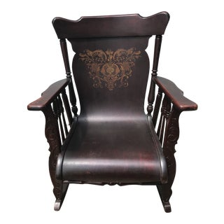 Victorian Brown Rocking Chair For Sale