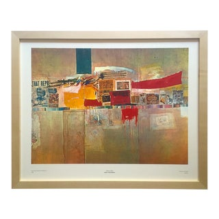 "Robert Rauschenberg Vintage 1960 Mid Century Modern Framed Fine Art Lithograph Print "" Rebus "" 1955 For Sale"