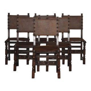 Spanish Revival Dining Chairs - Set of 6