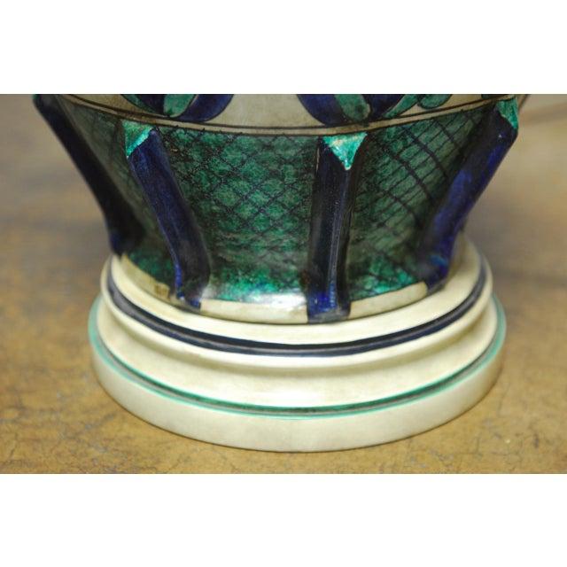 Marbro Italian Ceramic Faience Table Lamp - Image 4 of 9