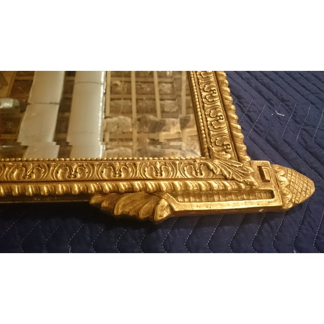 French Neoclassical Style Gold Leaf Finished Wall Mirror - Image 3 of 7