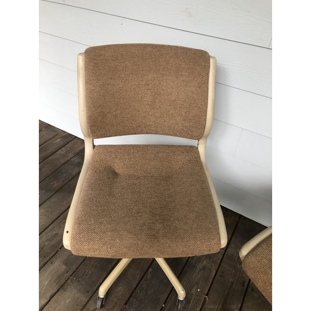 Vintage Steel Case Knoll Inspired Teed Chairs a Pair For Sale In Charleston - Image 6 of 8