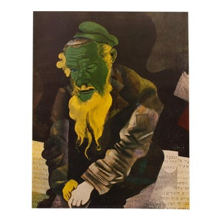 "1940s Marc Chagall, Original ""The Old Rabbi"" Period Swiss Lithograph For Sale"