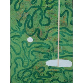 "Bumpy Wilson ""The Green"" Contemporary Abstract Painting For Sale"
