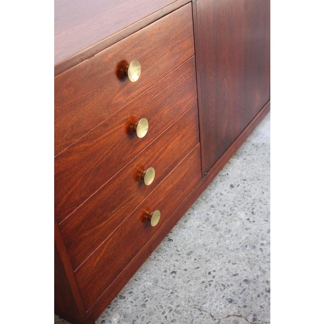 Mid-Century Walnut and Brass Credenza after Paul McCobb - Image 5 of 10