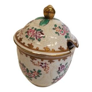 1920s Samson Covered Porcelain Jam or Mustard Pot For Sale
