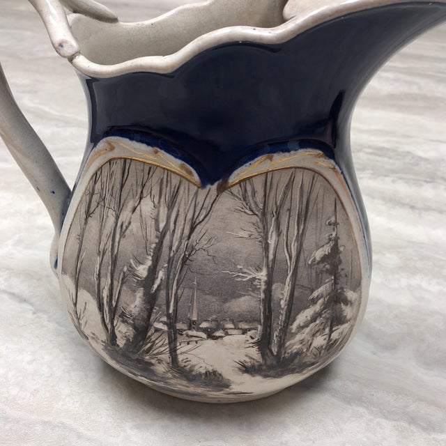 1900s 1900's Vintage English Ironstone Double Sided Pitcher For Sale - Image 5 of 7