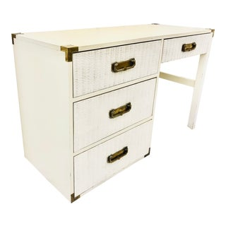 Vintage Campaign Style Writing Desk For Sale