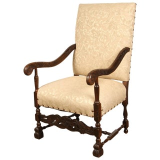 Early 20th Century Danish Baroque Chair For Sale