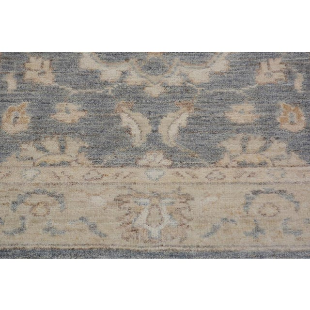 Kafkaz Peshawar Genaro Gray/Tan Wool Rug - 2'6 X 9'11 For Sale In New York - Image 6 of 7