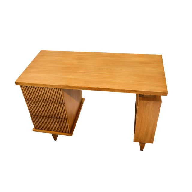 Mid-Century Modern American Of Martinsville Bamboo Desk For Sale - Image 3 of 11